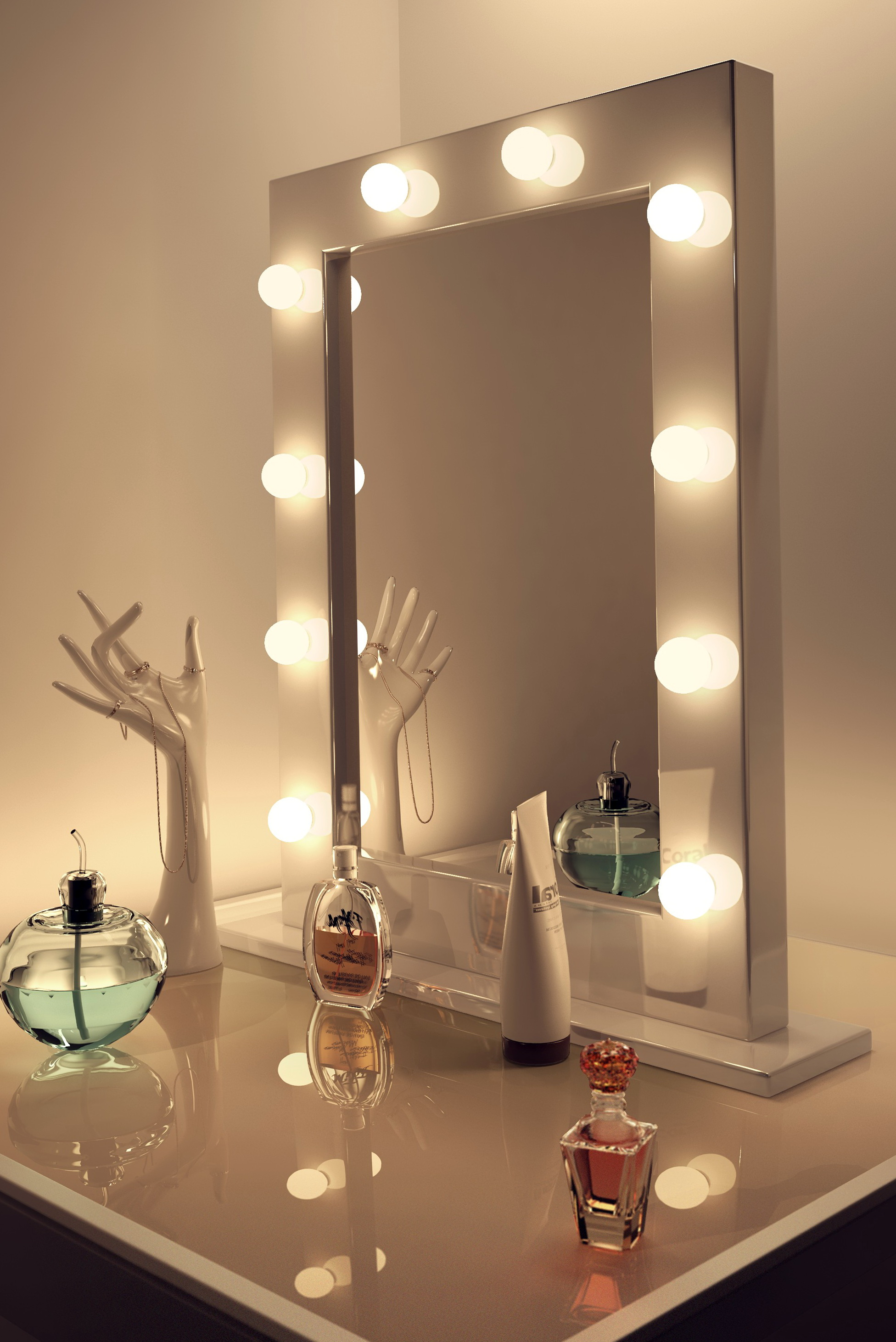 Vanity Set With Mirror Lights Vanity Sets With Lights Globorank