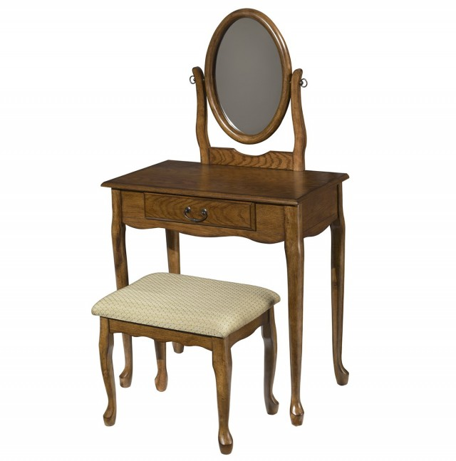 Vanity Set With Mirror And Bench