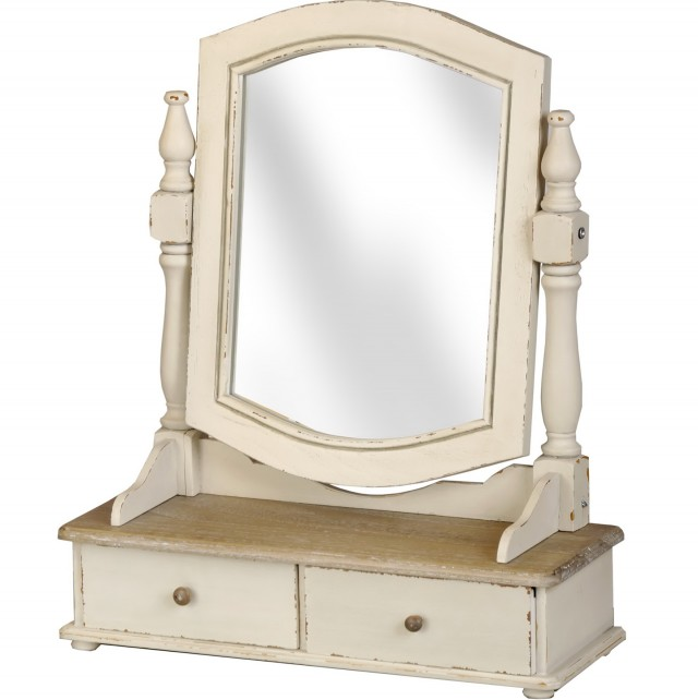 Vanity With Mirror And Drawers