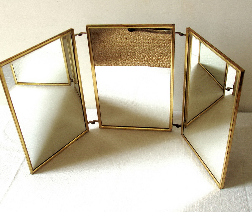Vintage Tri Fold Vanity Mirror - Vintage Tri Fold Vanity Mirror Home Design Ideas