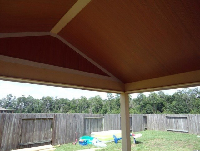 Vinyl Porch Ceiling Installation