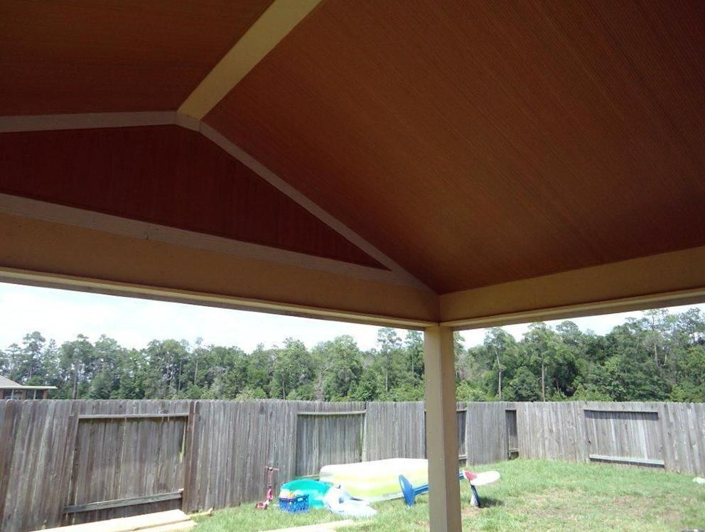 Vinyl Porch Ceiling Installation