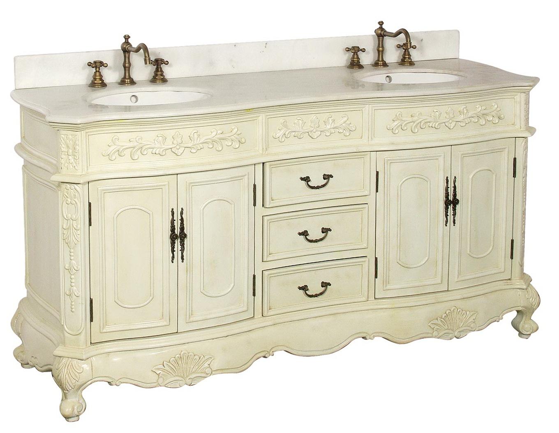 White Antique Bathroom Vanity | Home Design Ideas