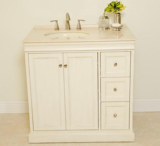 White Bathroom Vanities 36 Inches