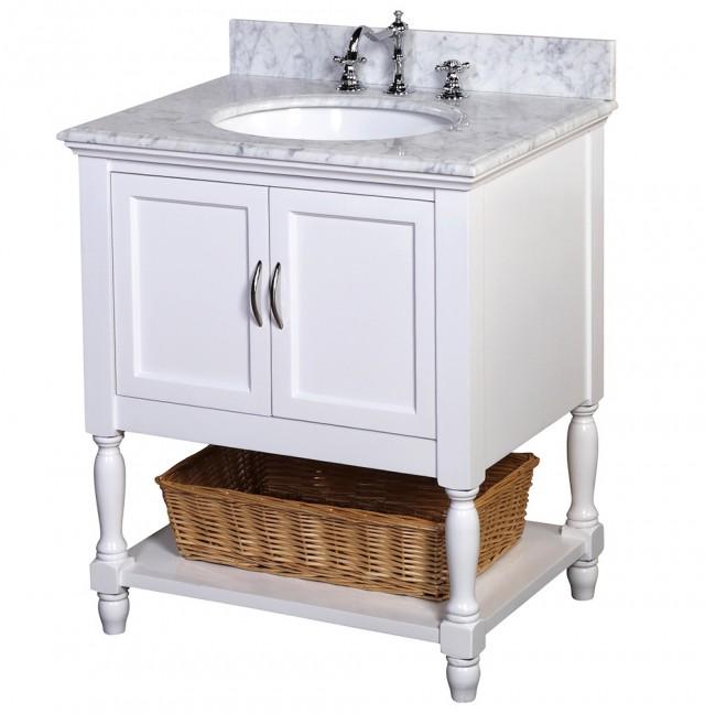 White Bathroom Vanity 30 Inches