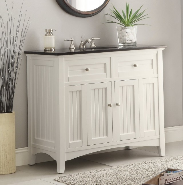 White Bathroom Vanity 42 Inch