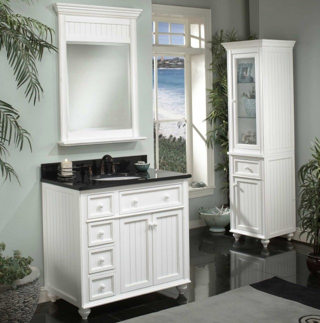 White Vanity For Bathroom