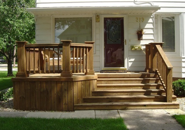 Wood Front Porch Steps