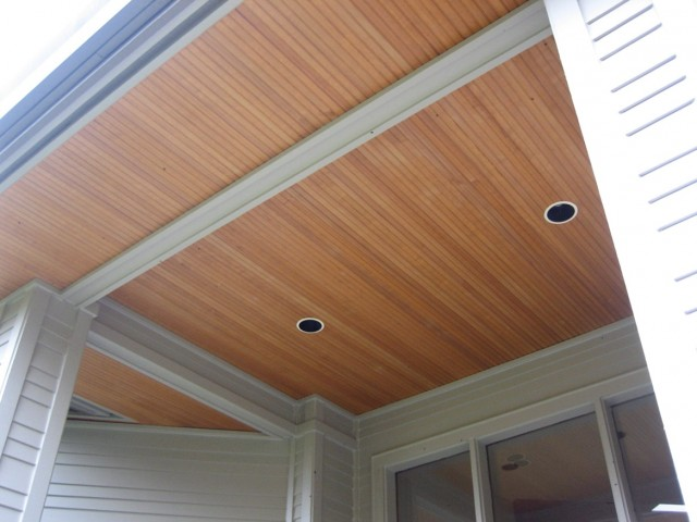 Wood Porch Ceiling Material