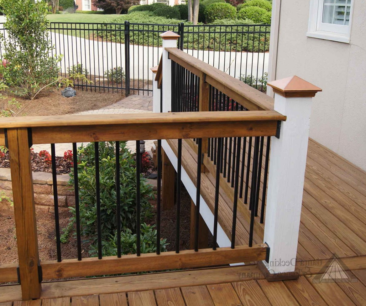 Wood Porch Railing Styles Home Design Ideas