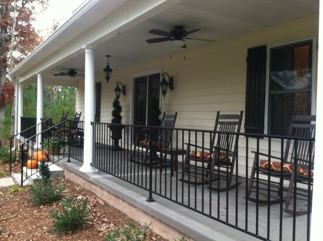 lowes vinyl front deck for kits gate and railing porch