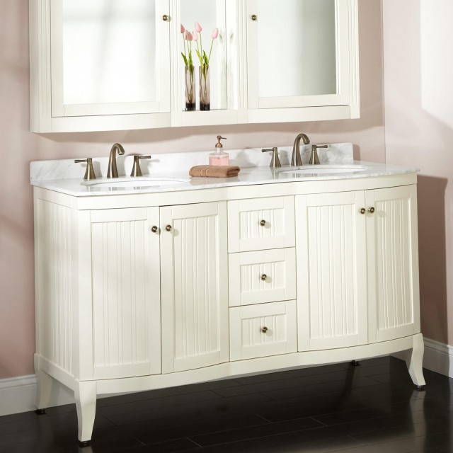 60 White Double Vanity