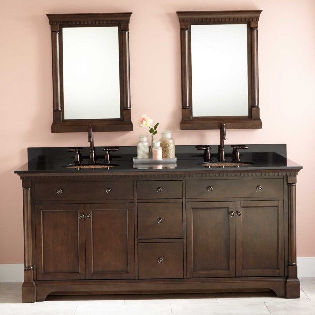 72 Bathroom Vanity Top Double Sink