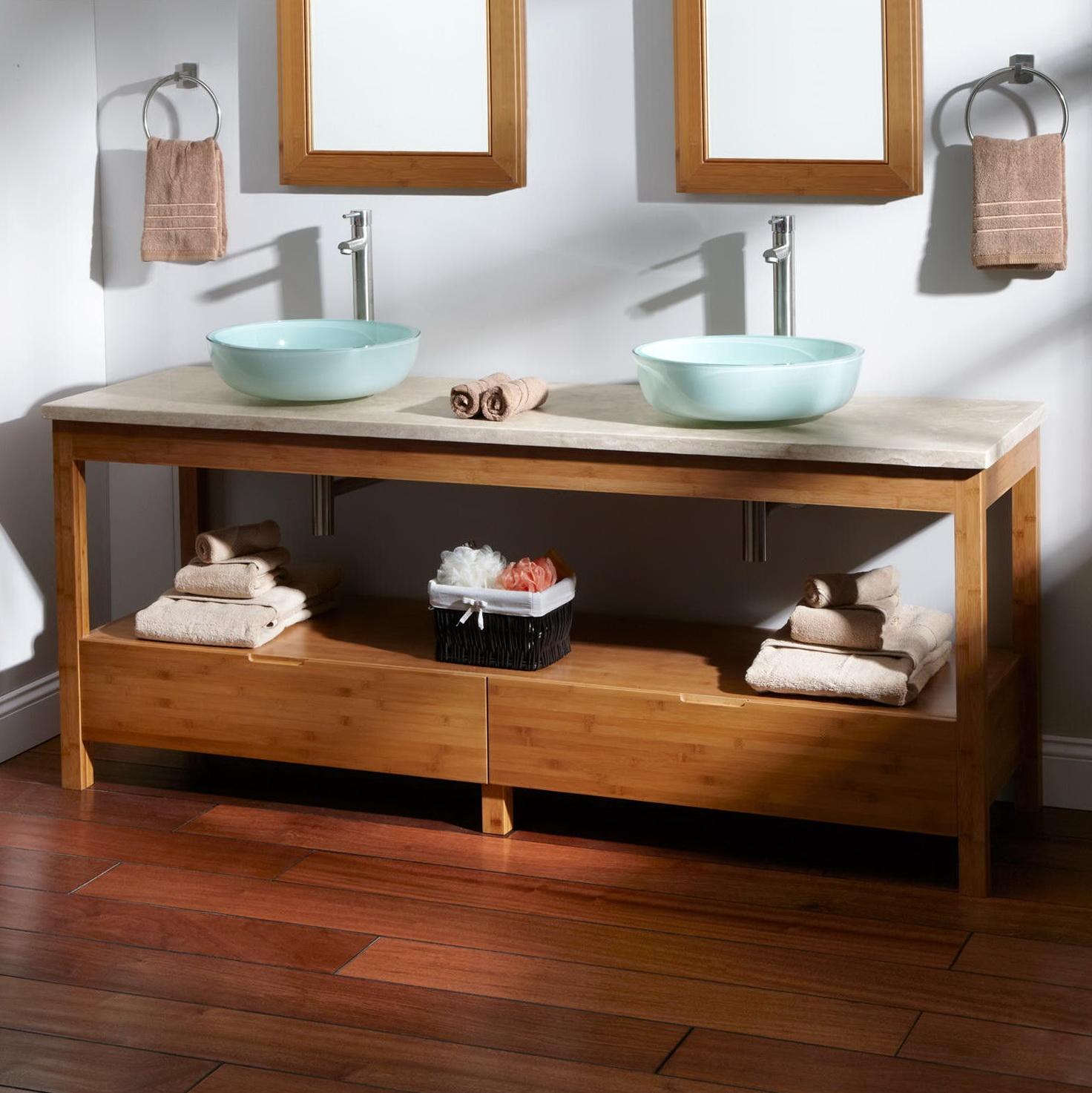 rustic vessel cabinet brown vanity mahogany dark sink double davyn bathroom