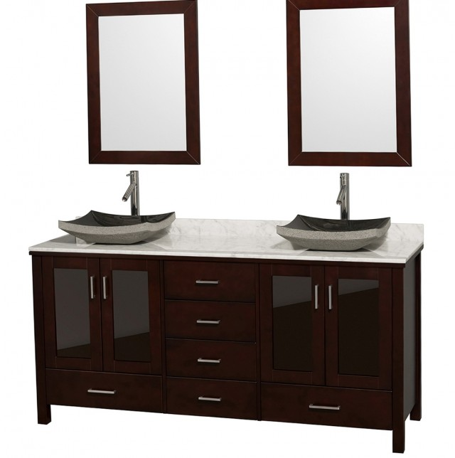 72 Double Sink Vanity Top