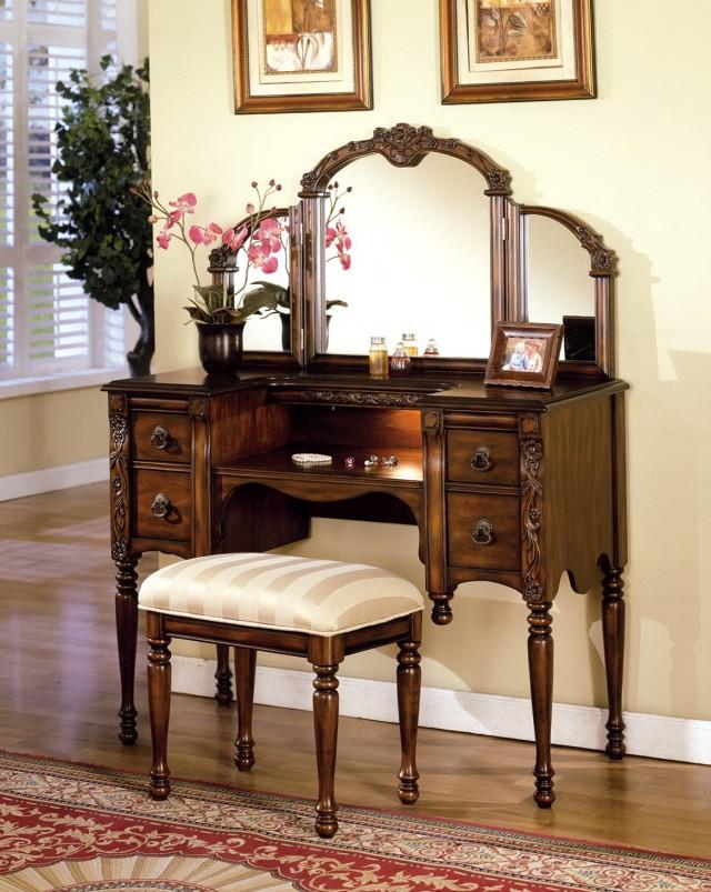 Antique Makeup Vanity With Mirror - Antique Vanity With Mirror Home Design Ideas