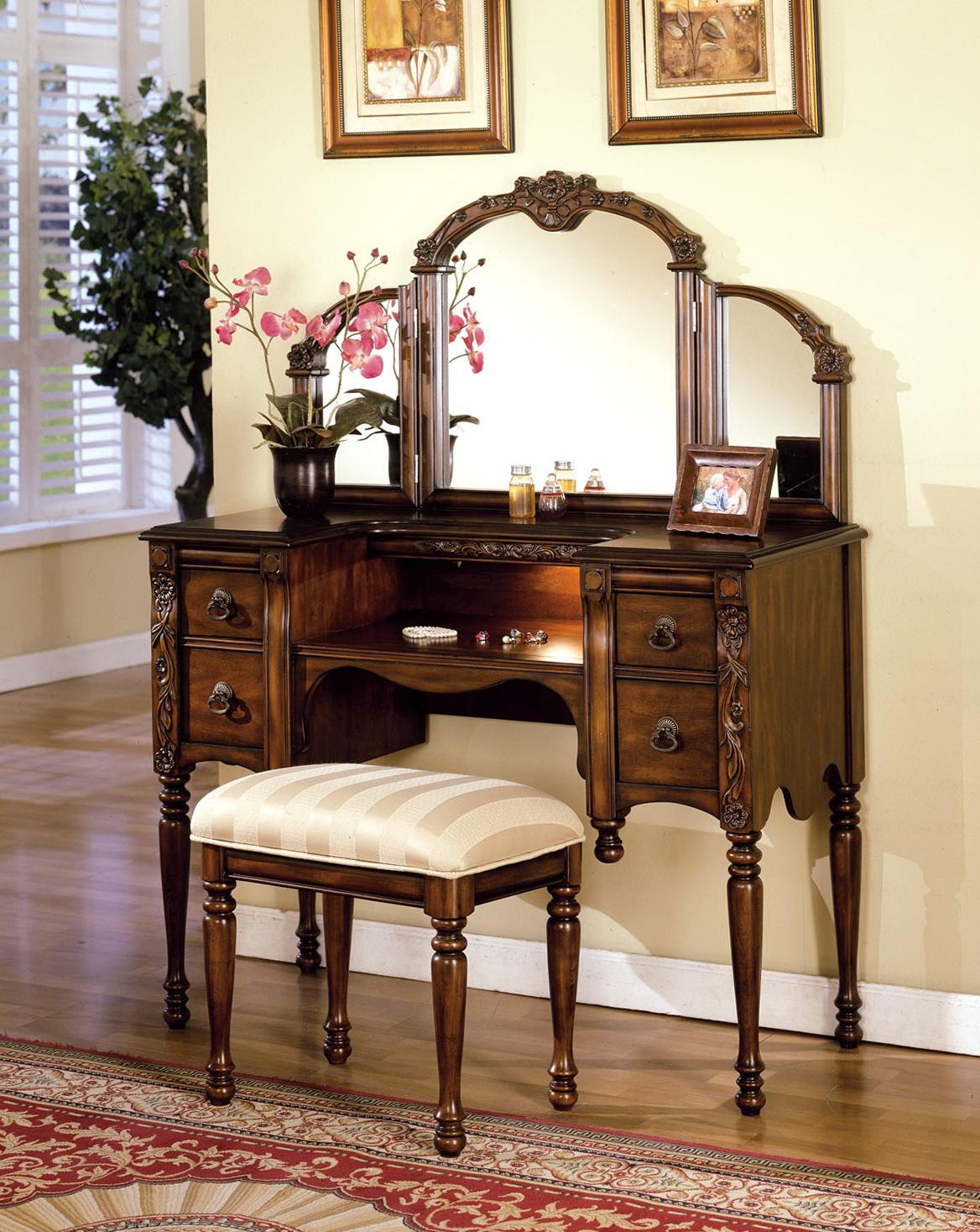 Antique Makeup Vanity With Mirror - Antique Makeup Vanity With Mirror Home Design Ideas