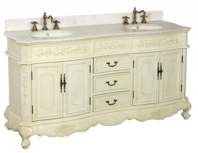 Antique White Double Vanity
