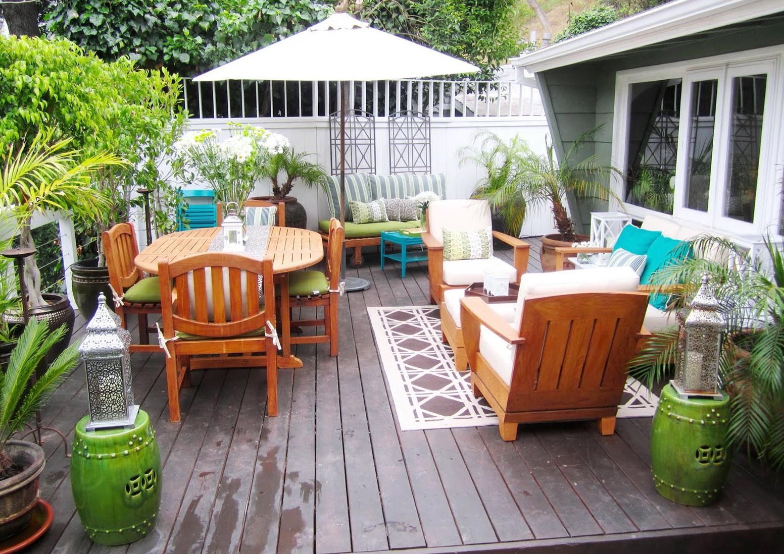 Back Porch Furniture Layout