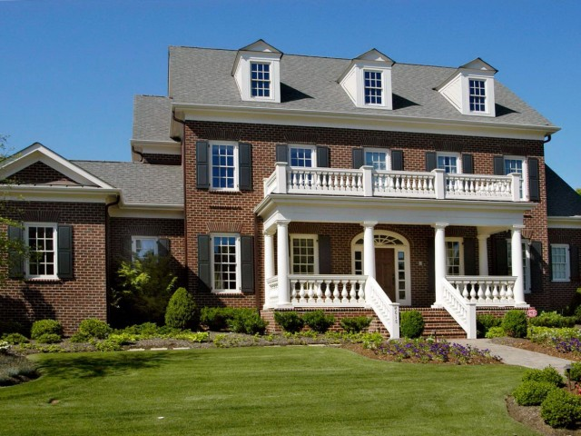 Brick Colonial Front Porch