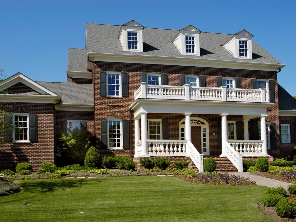 Brick Colonial Front Porch Home Design Ideas