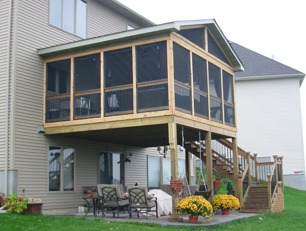 build a screened in porch on existing deck home design ideas. Black Bedroom Furniture Sets. Home Design Ideas