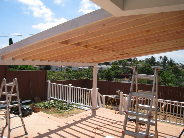 how to build a covered porch on a mobile home