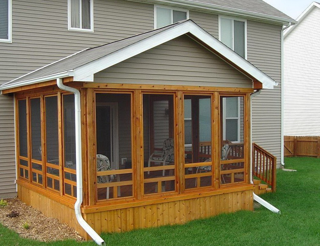 Building a screened porch on a mobile home home design ideas for Screened in porch ideas for mobile homes