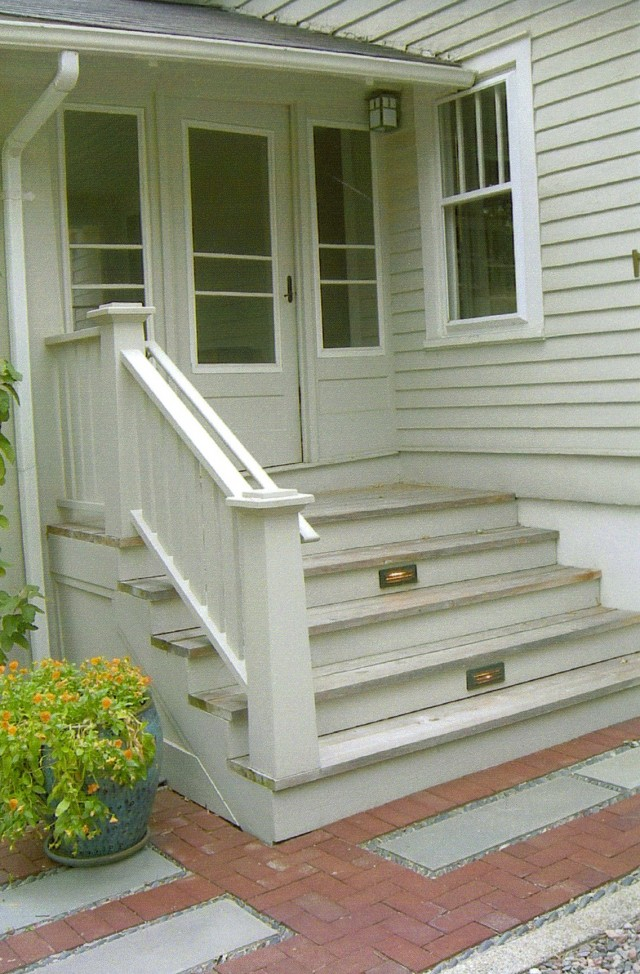 Building Stone Steps Porch Home Design Ideas