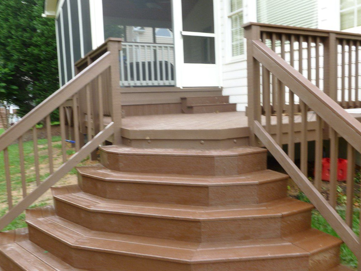 Building porch steps wood home design ideas for Steps in building a home
