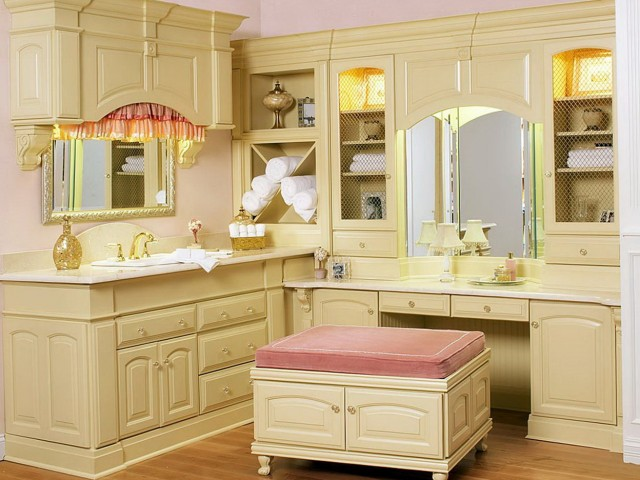 Corner Bathroom Makeup Vanity