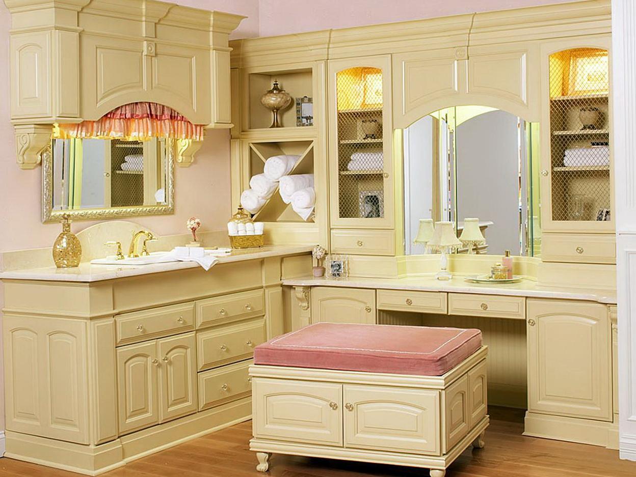 Corner bathroom makeup vanity home design ideas - Bathroom makeup vanity ideas ...