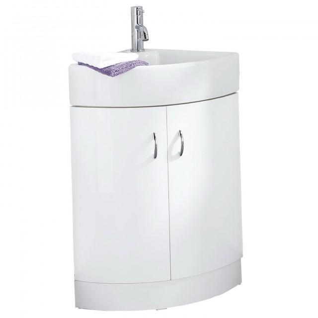 Corner Double Sink Vanity