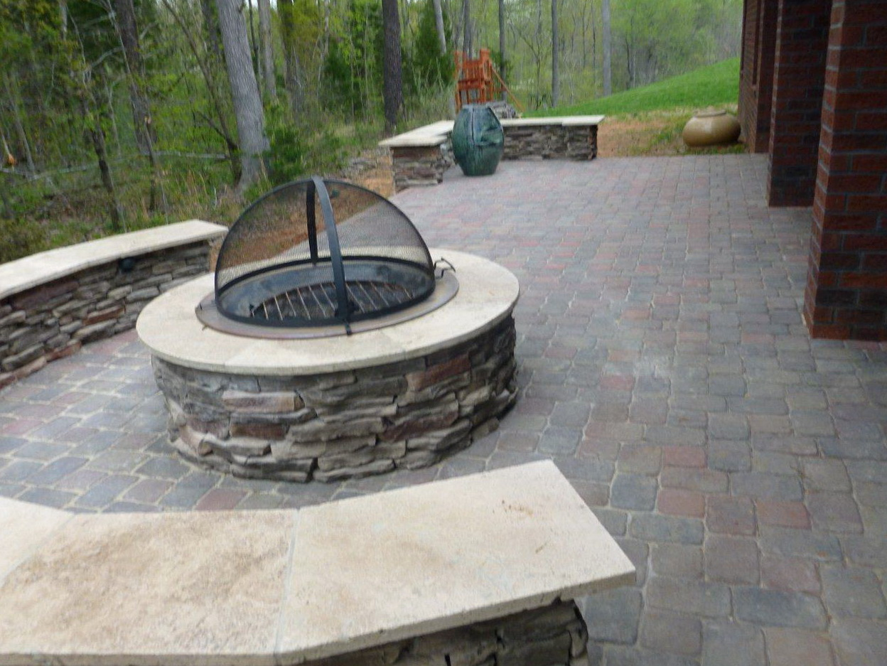 Permalink to Covered Porch Fire Pit