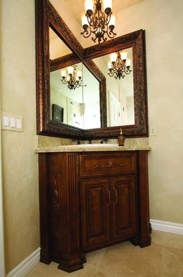 Custom Corner Bathroom Vanity