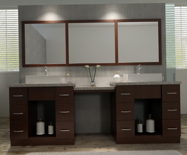 Double Bathroom Vanity Set