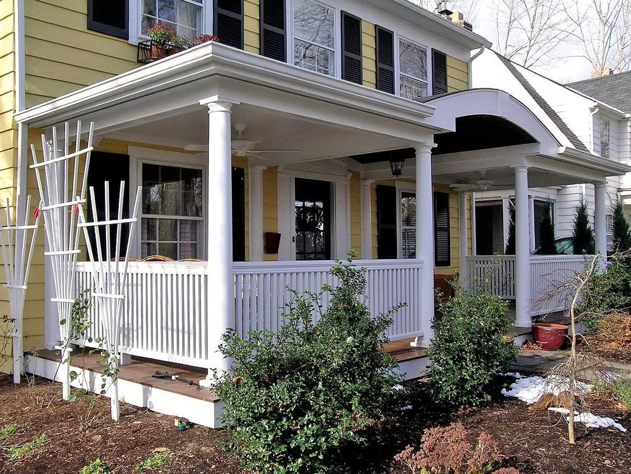 Front Porch Additions Before And After
