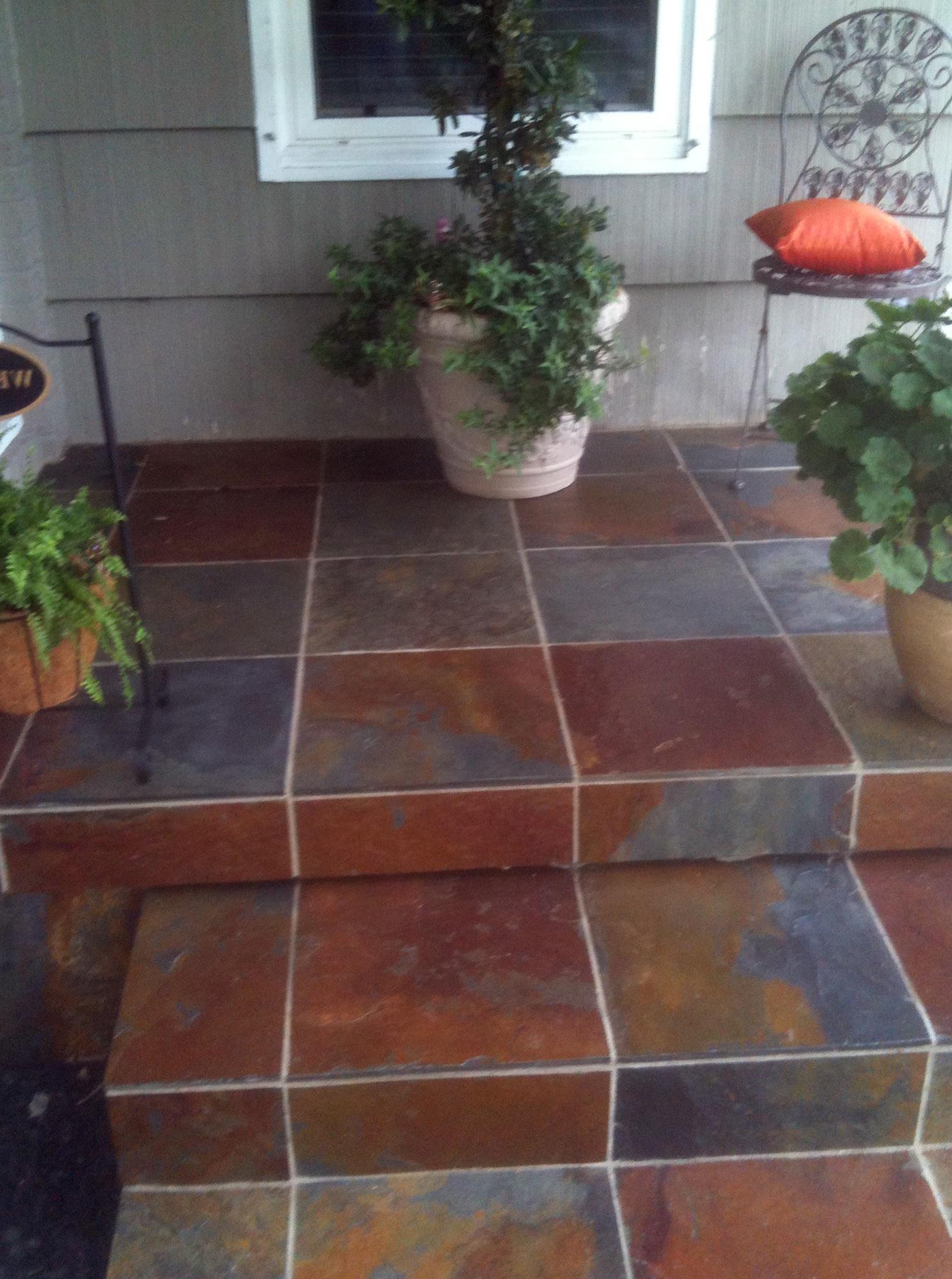 Finest Front Porch Tile Slate Home Design Ideas Lf71
