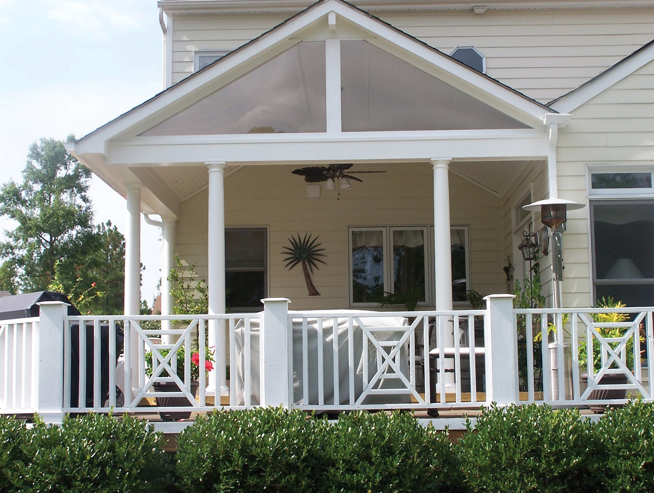 how to build a gable porch roof