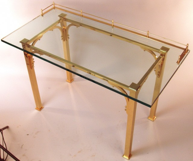 Glass Top Vanity Table