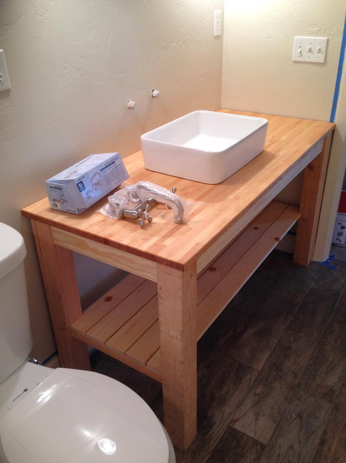 Build a bathroom vanity