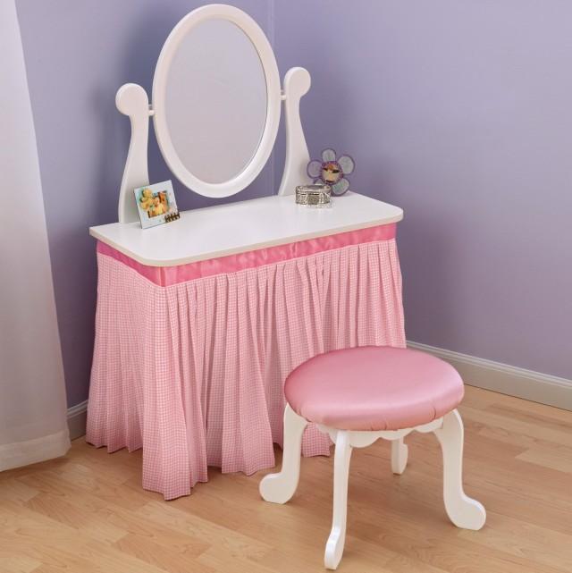 Childrens vanity princess vanity u0026 stool picture for Target makeup vanity