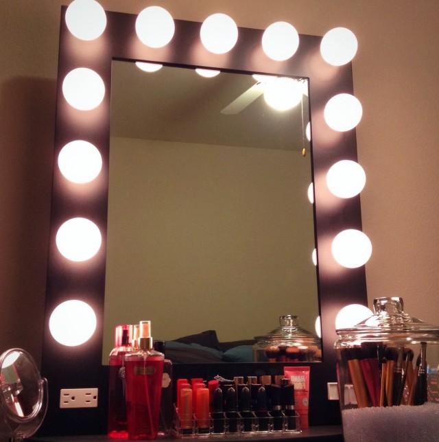 Vanity Girl Hollywood Starlet Lighted Vanity Mirror Home Design Ideas