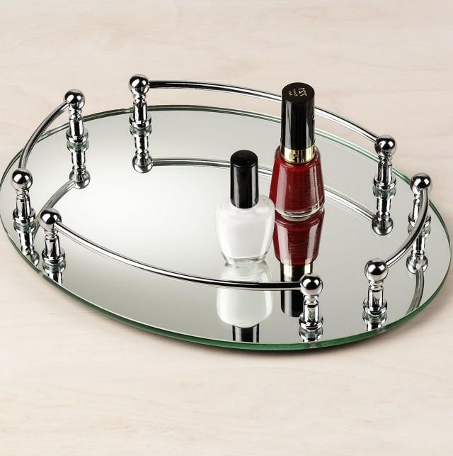 2 Tier Mirrored Vanity Tray Home Design Ideas