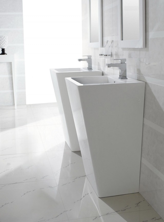 Modern Double Vanity Sink