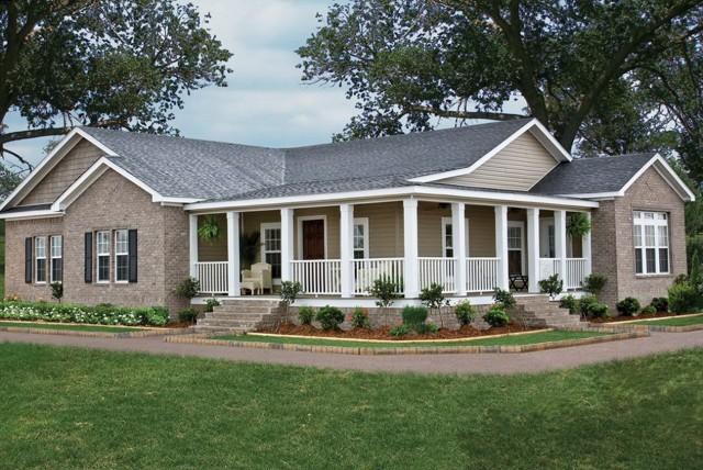 Wrap around porch modular homes home design ideas for Modular home with wrap around porch