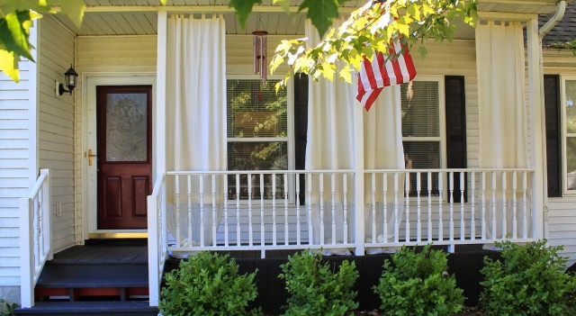 Outdoor Curtains Front Porch