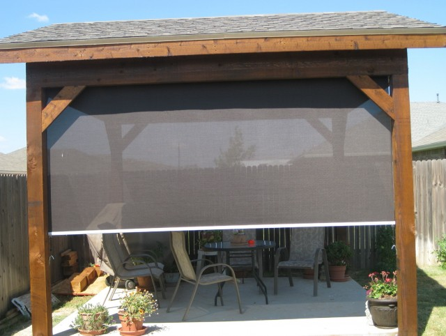 Outdoor shades for screened porch lowes home design ideas for Porch screen panels home depot