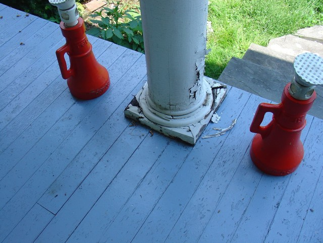 Porch Column Base Repair