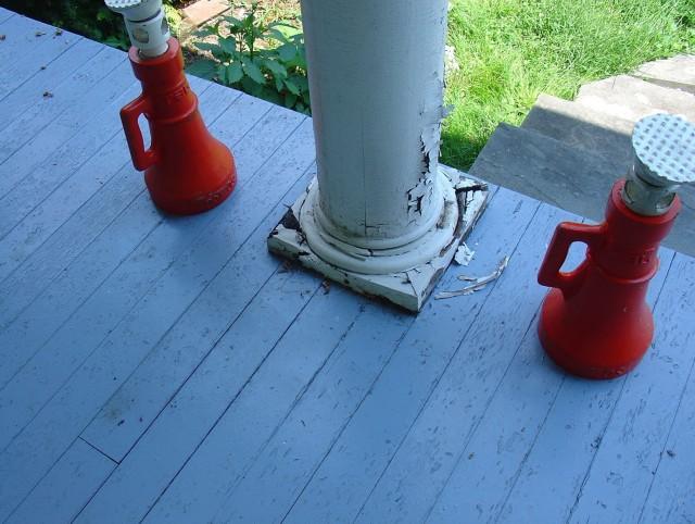 Porch Column Base Repair